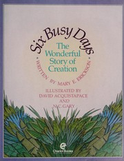 Cover of: Six busy days | Mary E. Erickson