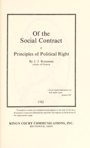 Cover of: Of the social contract | Jean-Jacques Rousseau