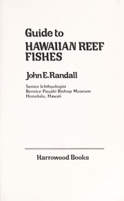 Cover of: Guide to Hawaiian reef fishes | John E. Randall