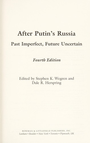After Putin's Russia by