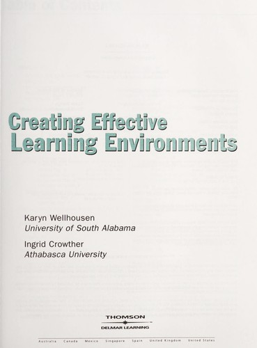 Creating effective learning environments by Karyn Wellhousen