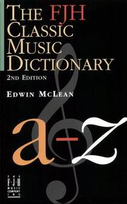 Cover of: Classic Music Dictionary | Edwin McLean