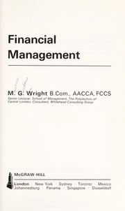 Cover of: Financial management | M. G. Wright