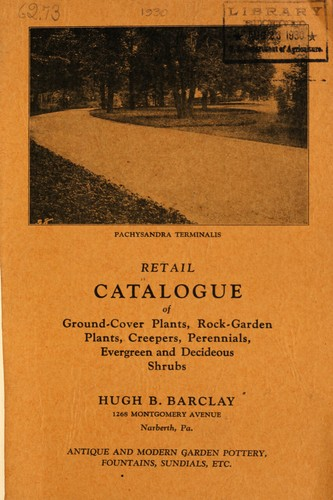 Retail catalogue of ground cover plants by Barclay Company (Narberth, Pa.)