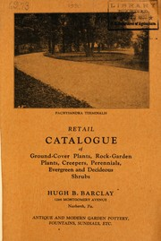 Cover of: Retail catalogue of ground cover plants | Barclay Company (Narberth, Pa.)