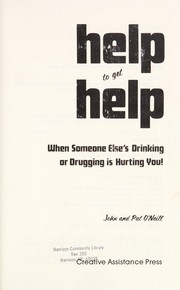 Cover of: Help to get help | O'Neill, John