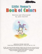 Cover of: The Colorful Mouse | Golden Books