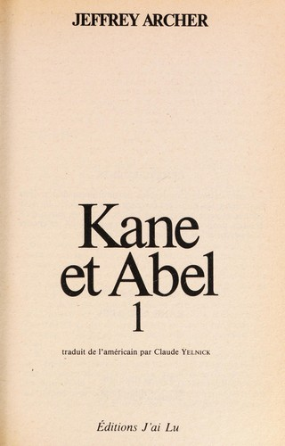 Kane Abel by Jeffrey Archer