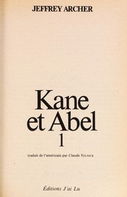 Cover of: Kane Abel | Jeffrey Archer