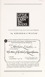 Cover of: Little marks earn big bucks | Lincoln, Abraham