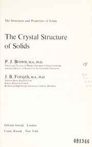 Wave motion in elastic solids 1991 edition open library the crystal structure of solids fandeluxe Images