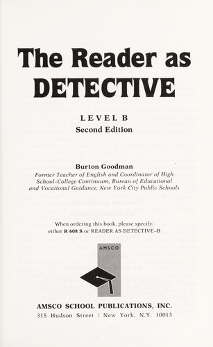 Reader As Detective /Level A (R 607 S) by Burton Goodman