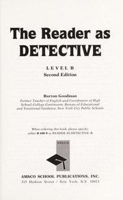 Cover of: Reader As Detective /Level A (R 607 S) | Burton Goodman