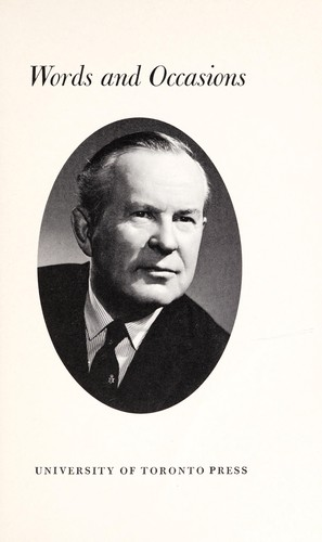 Words and occasions by Lester B. Pearson