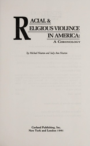 Racial & religious violence in America by Newton, Michael