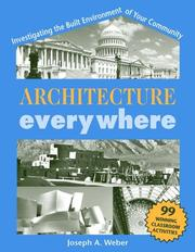 Cover of: Architecture Everywhere by Joseph A. Weber