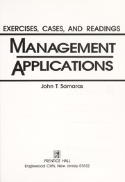 Cover of: Management applications | John T. Samaras