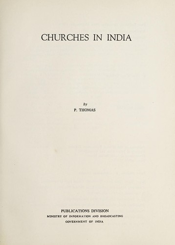 Churches in India by Thomas, Paul