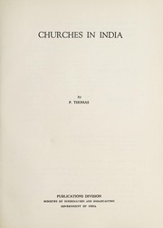 Cover of: Churches in India | Thomas, Paul