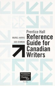 Cover of: Prentice Hall reference guide for Canadian writers | Muriel Harris