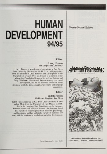 Human Development 95/96 by Fenson