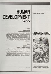 Cover of: Human Development 95/96 | Fenson