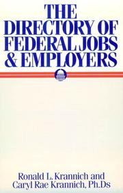 Cover of: The directory of federal jobs and employers | Ronald L. Krannich