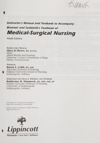 Textbook of Medical-Surgical Nursing by Smeltzer