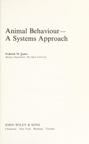 Cover of: Animal behaviour | F. M. Toates