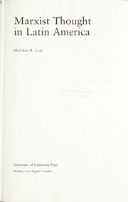 Cover of: Marxist thought in Latin America | Sheldon B. Liss