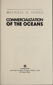 Cover of: Commercialization of the oceans | Michael H. Sedge