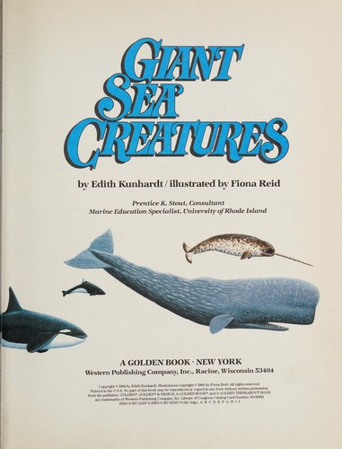 Giant Sea Creatures by Golden Books