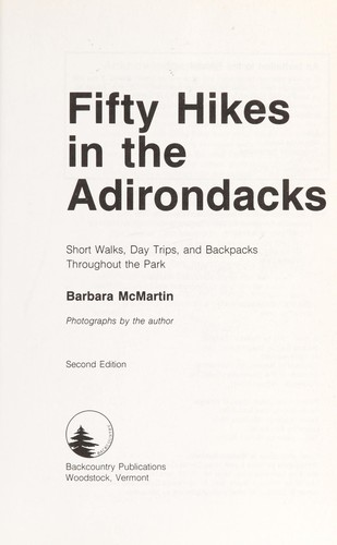 Fifty hikes in the Adirondacks by Barbara McMartin