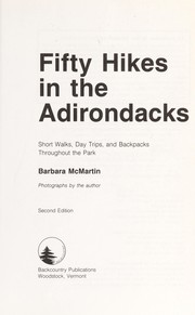 Cover of: Fifty hikes in the Adirondacks | Barbara McMartin