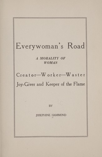Everywoman's road by Josephine Hammond
