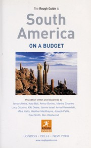 Cover of: The Rough Guide to South America on a Budget 1 | Not Available (NA)