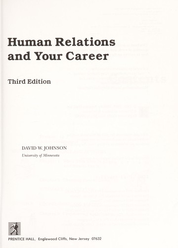 Human relations and your career by Johnson, David W.