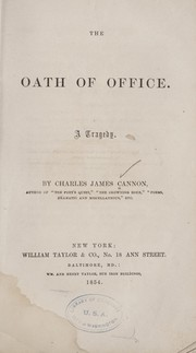 Cover of: The oath of office | Charles James Cannon