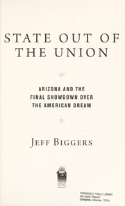 Cover of: State out of the union | Jeff Biggers