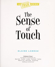 Cover of: The sense of touch | Elaine Landau