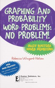 Cover of: Graphing and probability word problems | Rebecca Wingard-Nelson