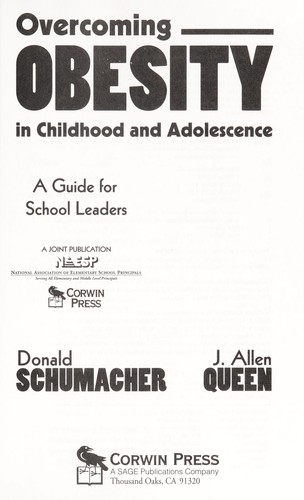 Overcoming obesity in childhood and adolescence by Donald Schumacher