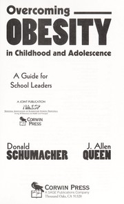 Cover of: Overcoming obesity in childhood and adolescence | Donald Schumacher