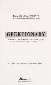 Cover of: Geektionary | Gregory Bergman