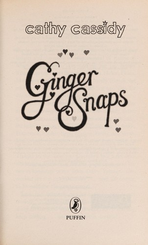 Ginger snaps by Cathy Cassidy