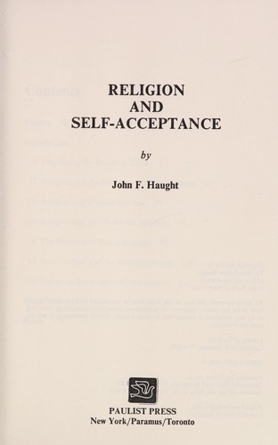 Religion and self-acceptance by John F. Haught
