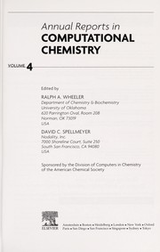 Cover of: Annual reports in computational chemistry | David C. Spellmeyer