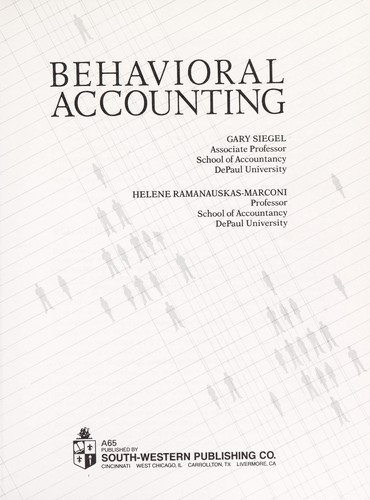 Behavioral accounting | Open Library