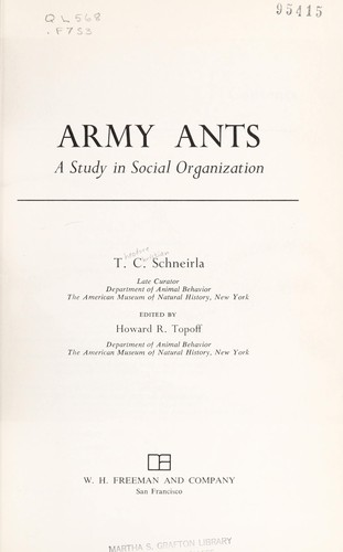 Army ants by T. C. Schneirla