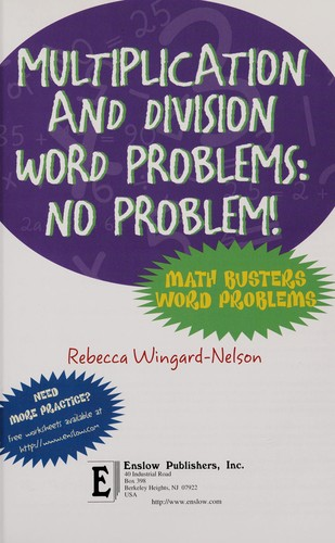 Multiplication and division word problems by Rebecca Wingard-Nelson